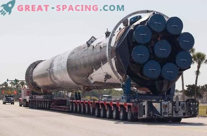 Vesoljska raketa Falcon je prejela največjo škodo